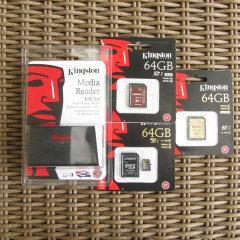 Kingston (micro)SDXC Cards and USB 3.0 Card Reader Review & Unboxing